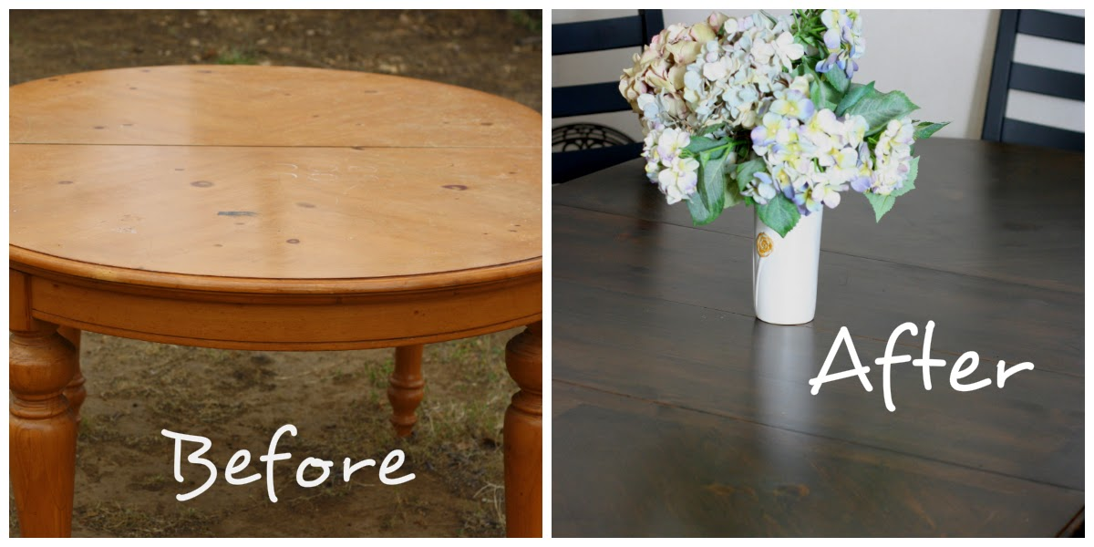 crafty allie: dining room table makeover part 2