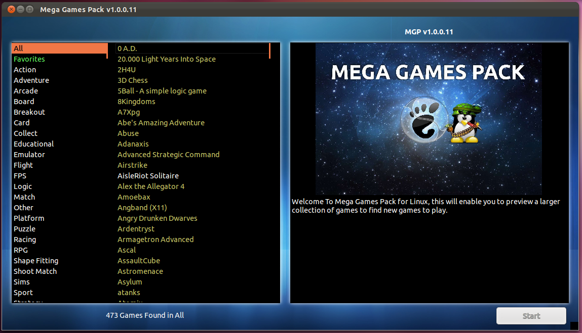 Mega games pack lets you install and play hundreds of free games on mega games pack mgp by glennlchugg is a standalone client for ubuntu that allows you to download and play hundreds of free linux games reheart Images