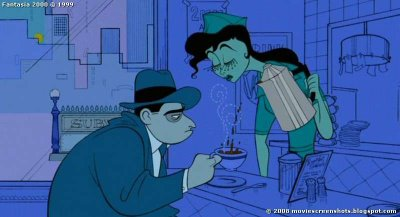 Unemployed man in Rhapsody in Blue sequence Fantasia 2000 1999 animatedfilmreviews.blogspot.com