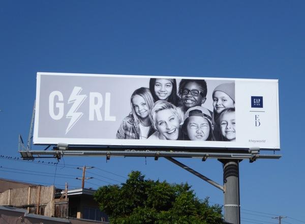 Ellen DeGeneres Gap Kids Girl collection billboard