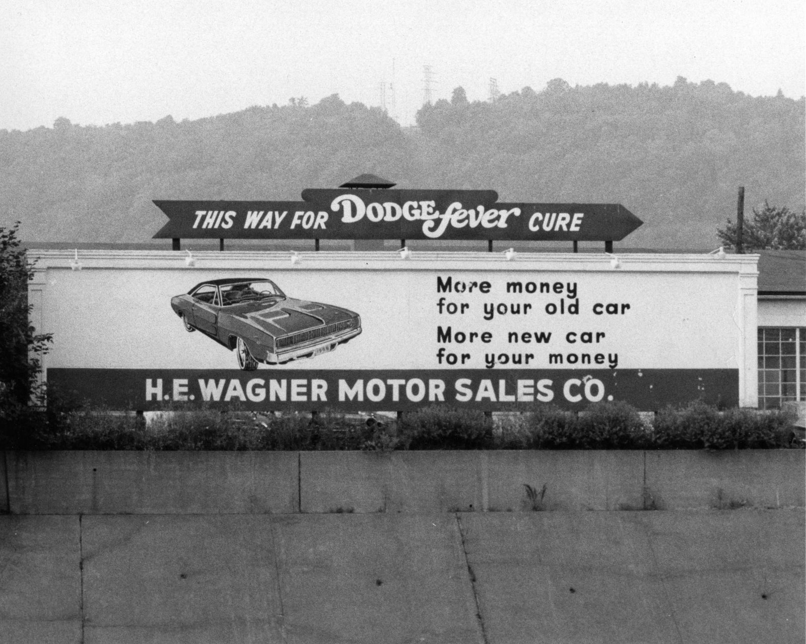 Vintage Johnstown This Way For Dodge Fever Cure