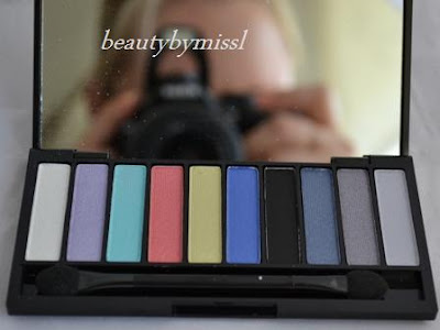 City Color Special Effect Bright Eye Colors palette swatches and review
