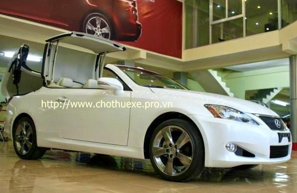 Cho thuê xe cưới mui trần Lexus IS250C màu trắng 1
