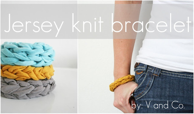 sewing jersey knit bracelets