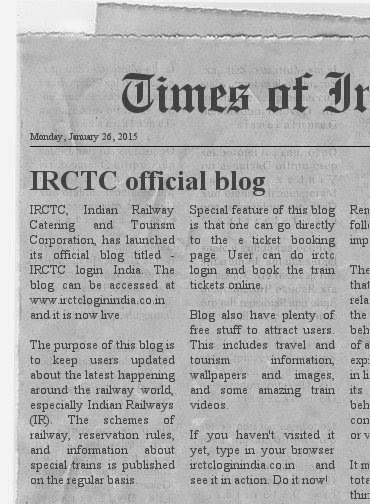 news about irctc login india blog in times of india