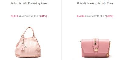 Bolso y bandolera color rosa