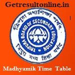 TBSE Madhyamik Routine 2016