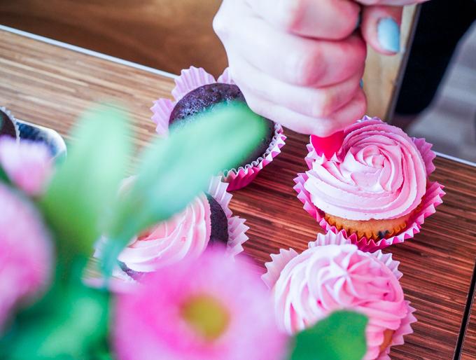 cupcakes koristelu pink vanilla desserts