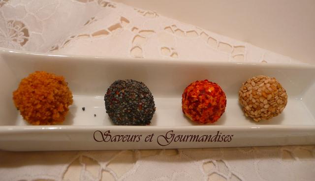 Bonbons Surprises au Foie Gras.