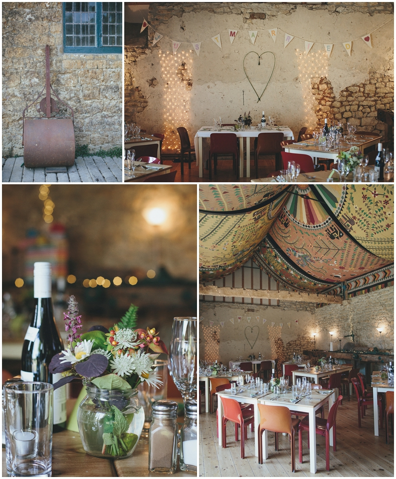 Sawmill cafe decorated for wedding