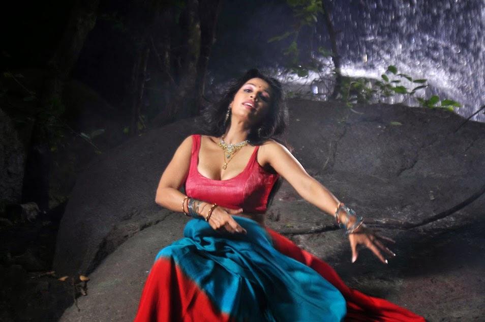 actress asha saini red blouse