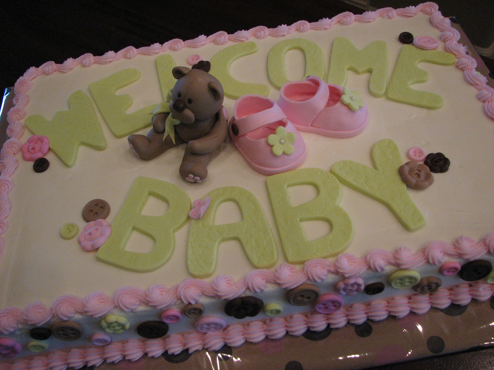 Baby Shower Sheet Cake. Posted By Decadent Designs   Celebrate Life With  Cake! At 7:55 PM