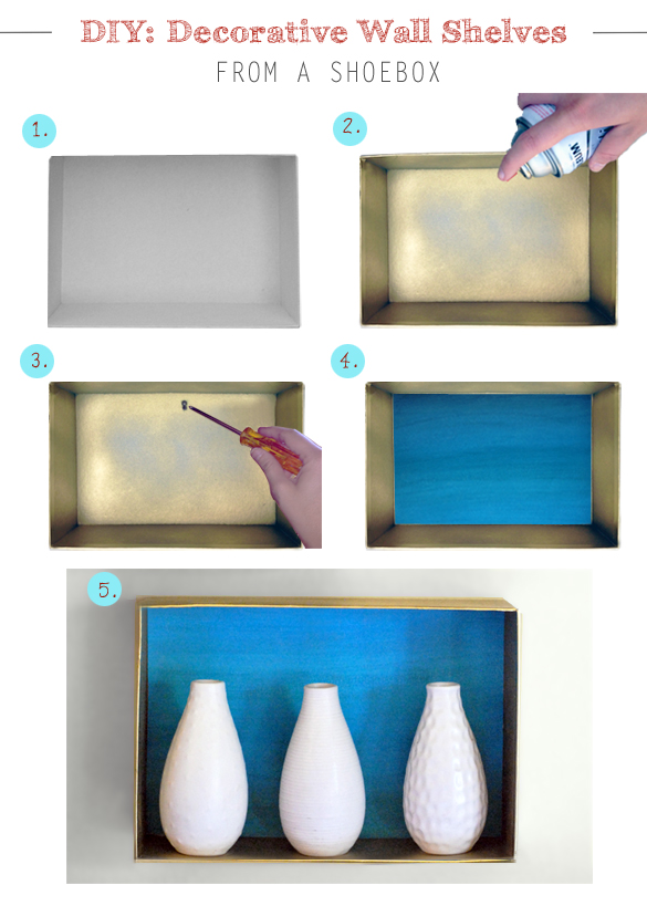 Do it yourself decorative wall shelves for Diy wall shelves for shoes