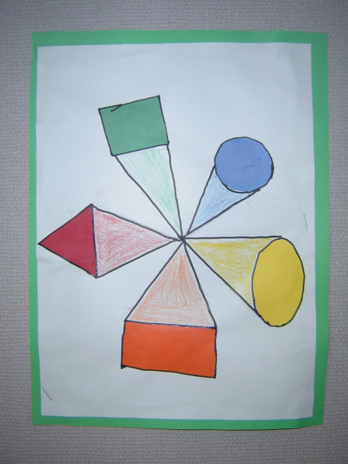 Mrs. T\'s First Grade Class: One Point Perspective Shapes