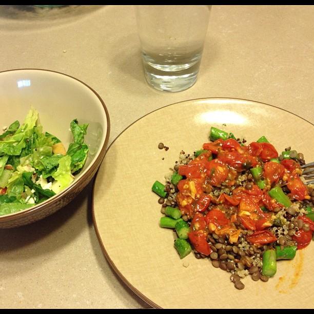vegan, gluten free Italian-style quinoa