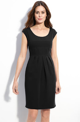 Tahari by Arthur S. Levine Scoop Neck Crepe Sheath Dress