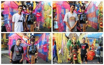 Berpose bersama Peragawan Tim Fashion Carnaval UNY Jogja Kreatif