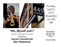 UPCOMING: April 2, 2017, Solo Sax Performance @ 440 Gallery