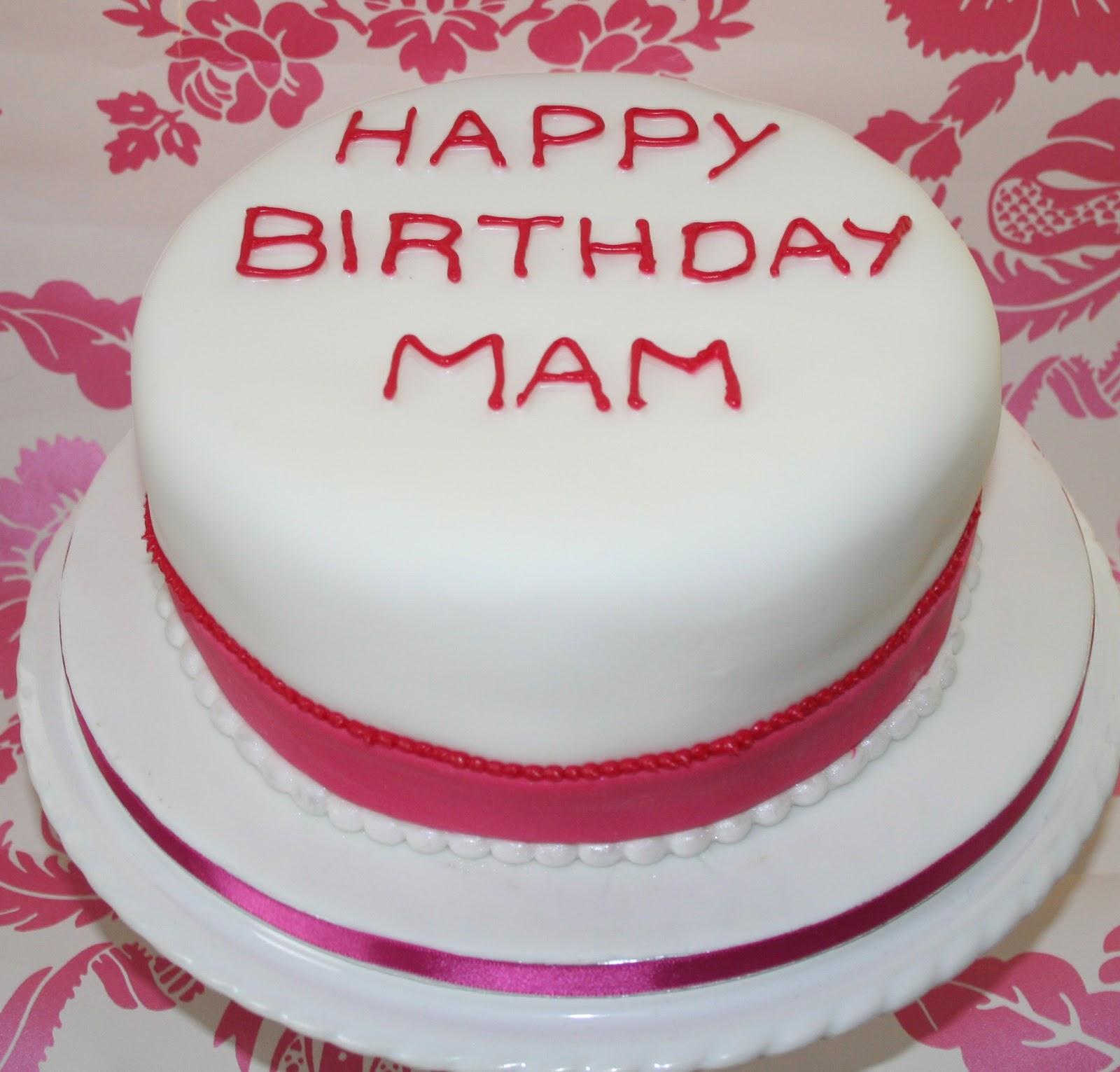 Photos Of White Birthday Cake : Chintzy Cakes: Pink and White Birthday Cake