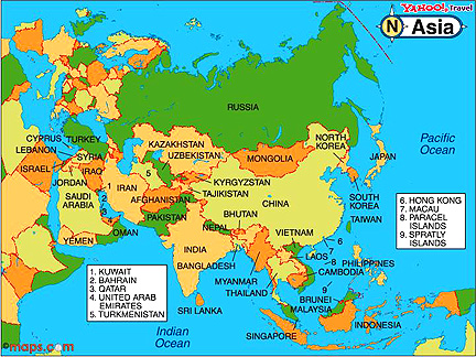 Fun Facts Of Asia Map