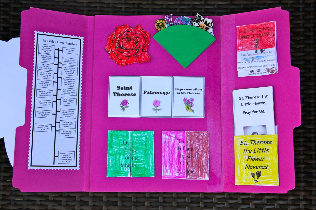 Shower of Roses St Therese Lap Book