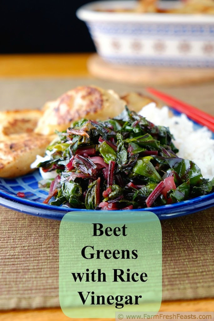 Beet Greens with Rice Vinegar | Farm Fresh Feasts