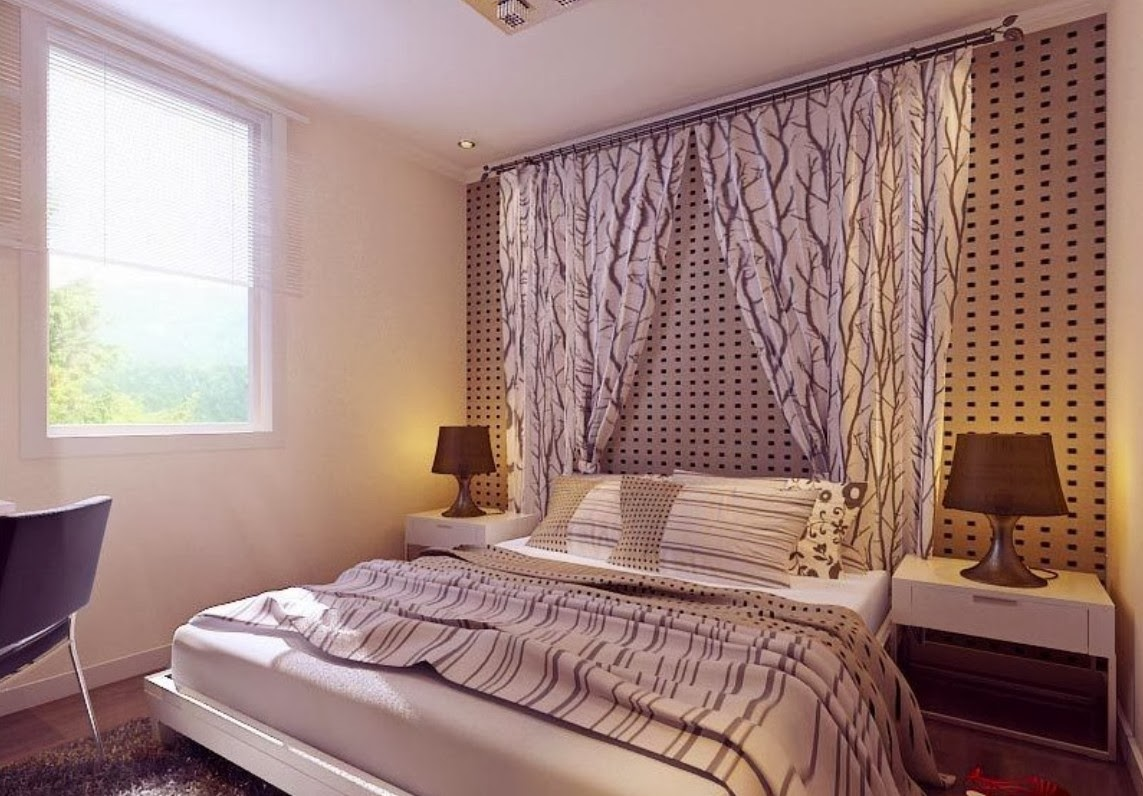 15 beautiful bedroom curtains concept homes alternative for Beautiful bedroom walls
