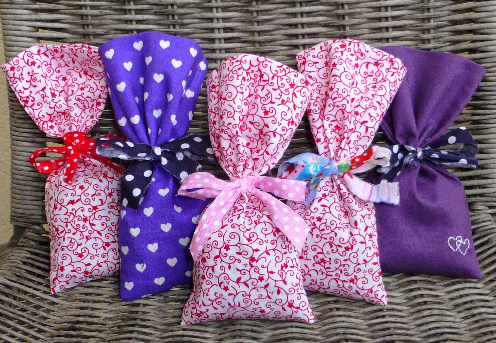 Nadelgrafie: Lavendelsäckchen nähen