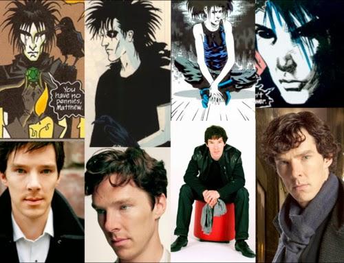 Benedict Cumberbatch sandman morpheus neil gaiman sherlock vertigo