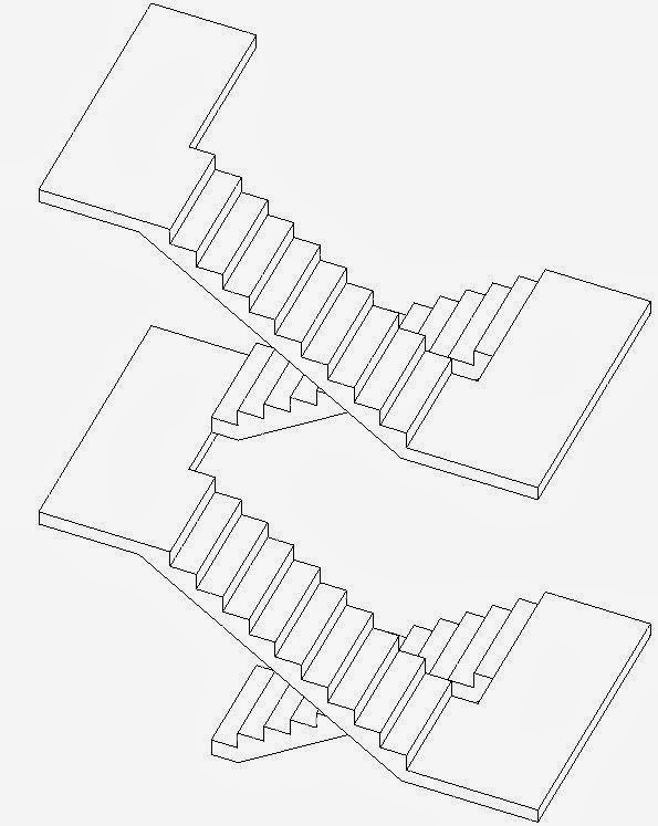 Once You Set It Back To Multi Storey The Landings Show Up, Although They Do  Not Join Properly To The Upper Storey Of The Stair