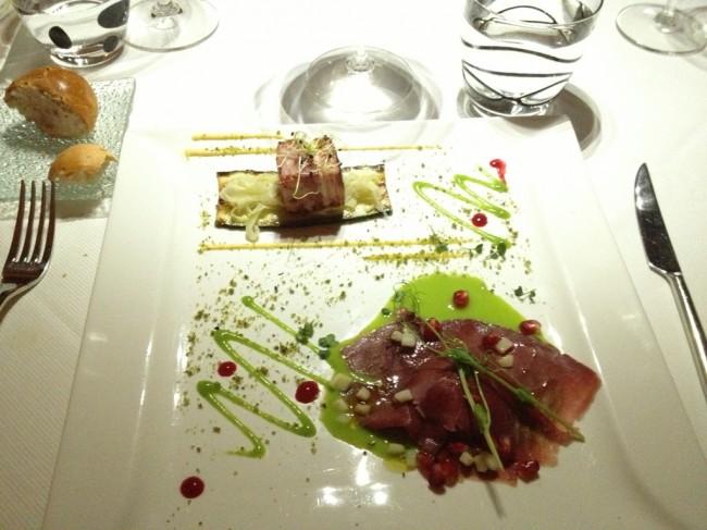 La Rosa Bulgara: Presentazione dei piatti nel ristorante di alta classe