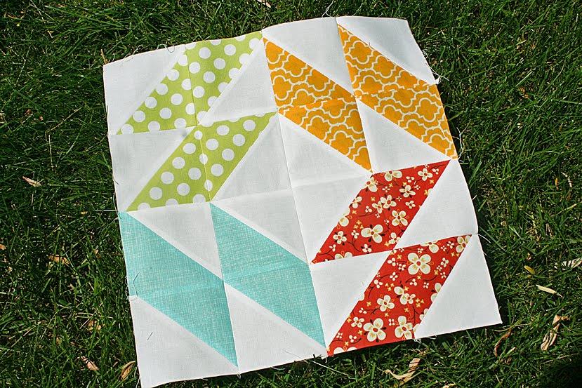 Summer Sampler Series: Mosaic Block – Freshly Pieced