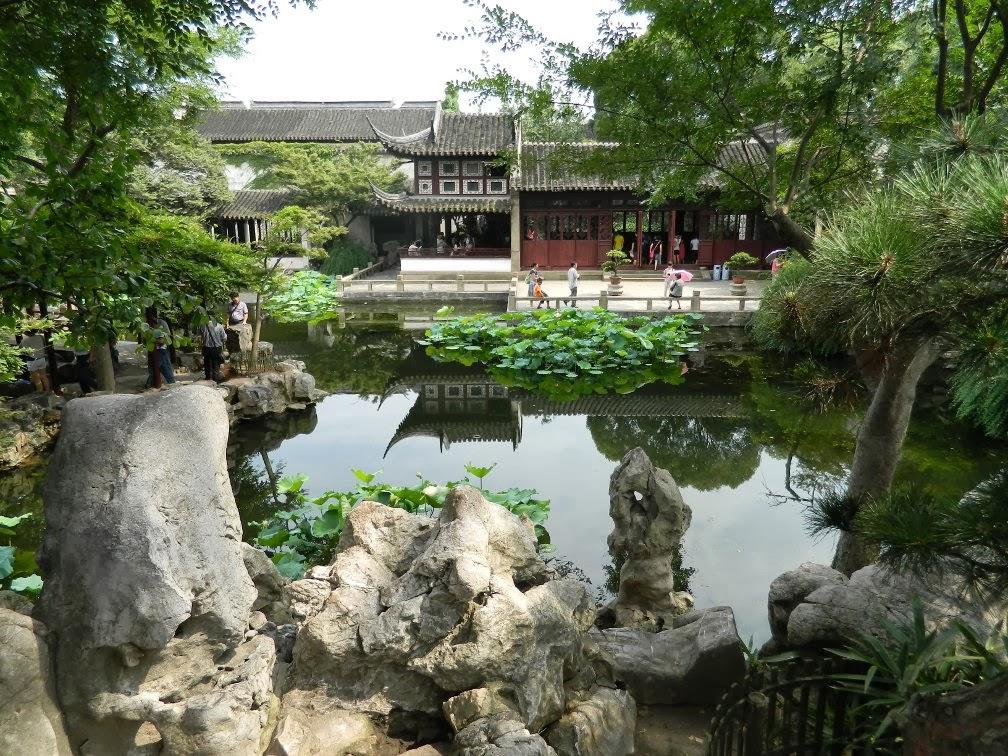 View to Pellucid Tower Lingering Garden Suzhou by garden muses-Toronto gardening blog