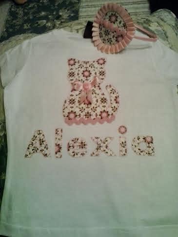 camiseta de niña personalizada para regalo de cumpleaños