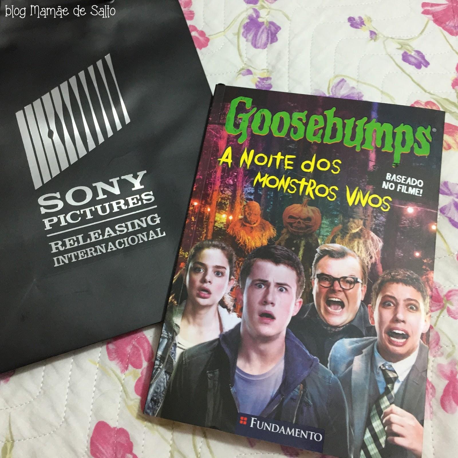 livro Goosebumps - A Noite dos Monstros Vivos, ed. Fundamento => blog Mamãe de Salto