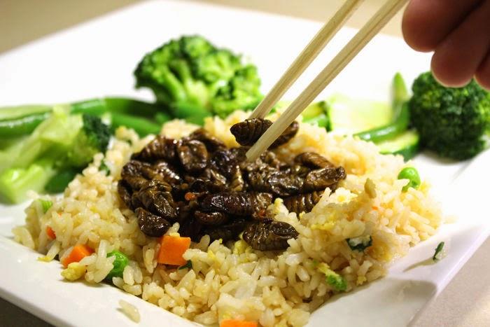 طبق صراصير بالأرز