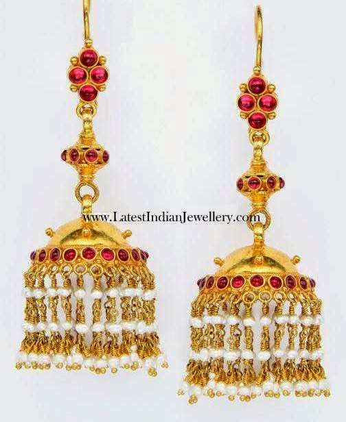 22 karat Long Gold Jhumka