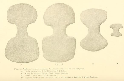 Patagonian Tehuelche stone axes