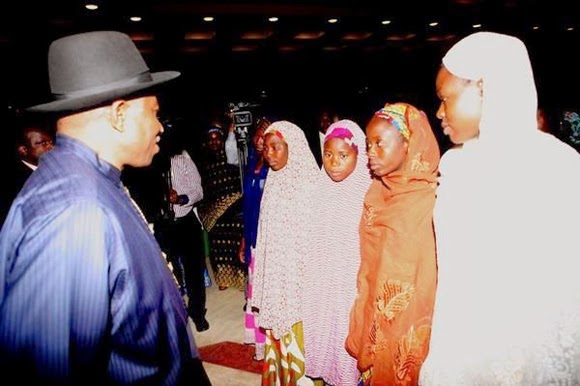 jonathan gave chibok parents money