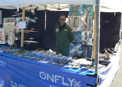 Stand de l'empresa de models reduits OnFly, de Múrcia, a la Festa de la Patrona 2012 a l'Aeroport de Sabadell.