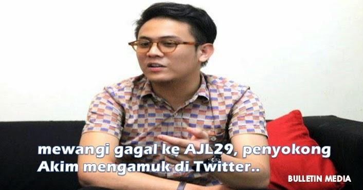 Mewangi gagal ke AJL29, penyokong Akim mengamuk di Twitte