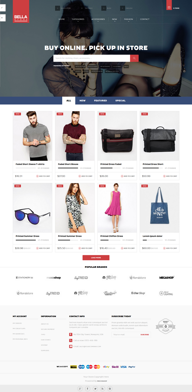 best ecommerce website template