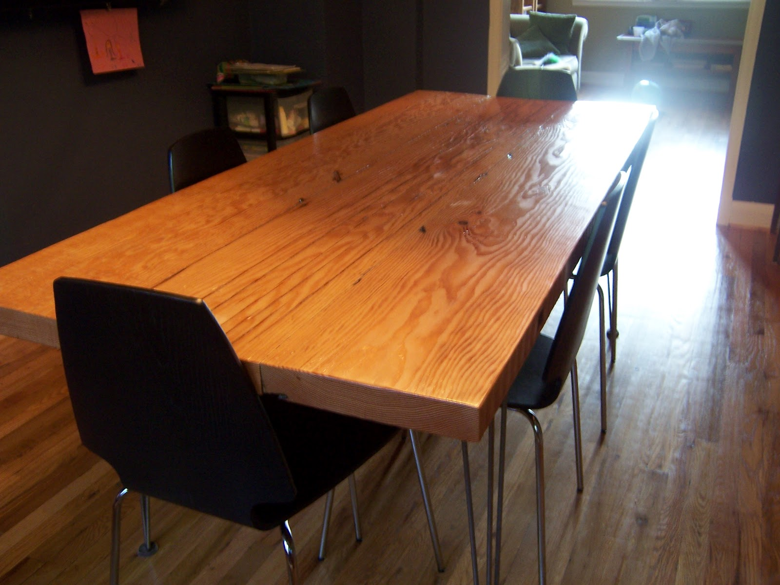 John Makes Stuff Modern Dining Table With Reclaimed Wood