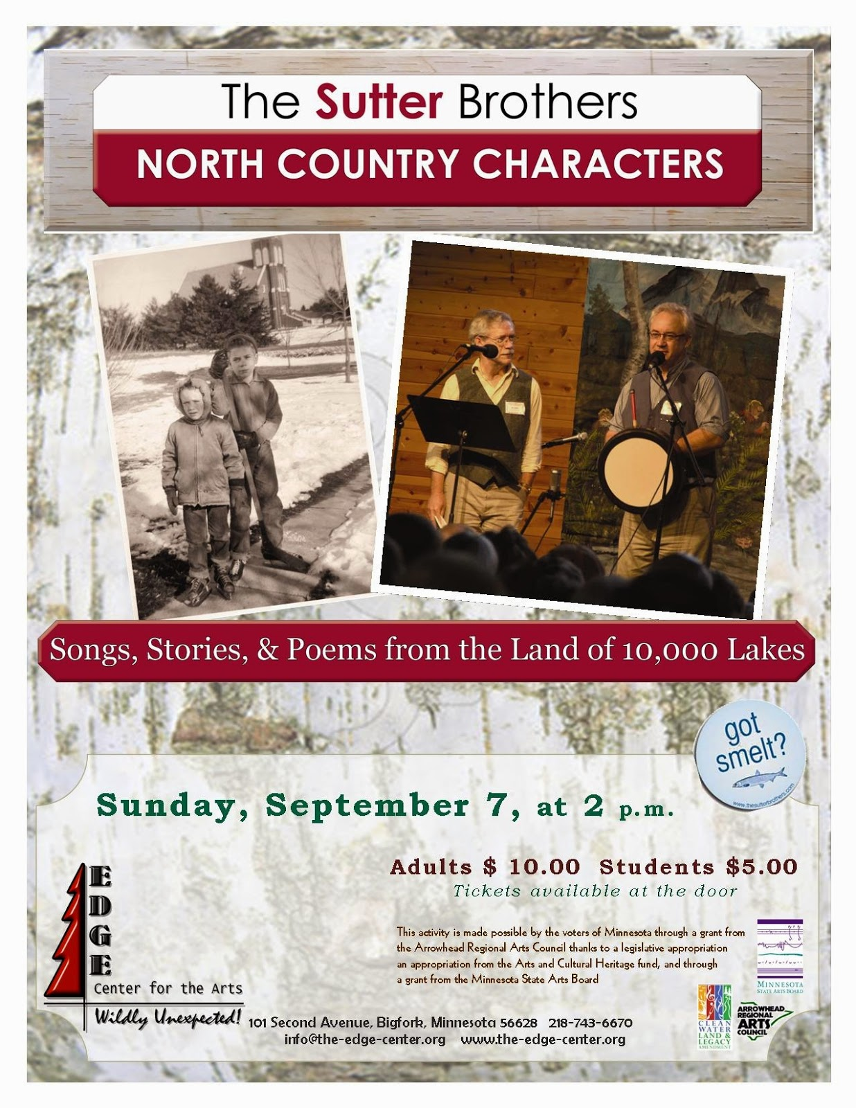 Story and song, music and poem�kissing cousins - Edge Center for the Arts