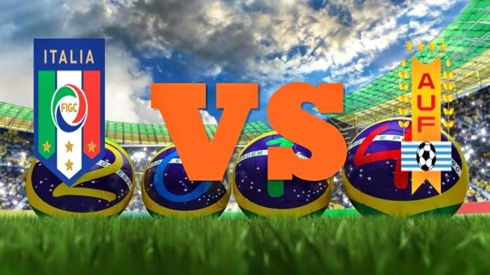 Prediksi Skor FIFA World Cup Terjitu Italy vs Uruguay jadwal 24 Juni 2014
