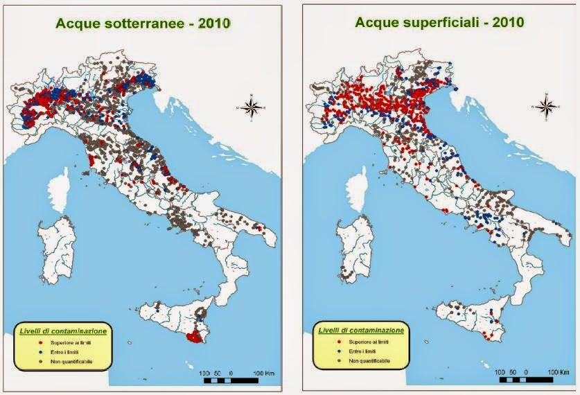 Rapporto Nazionale Pesticidi nelle Acque 2013