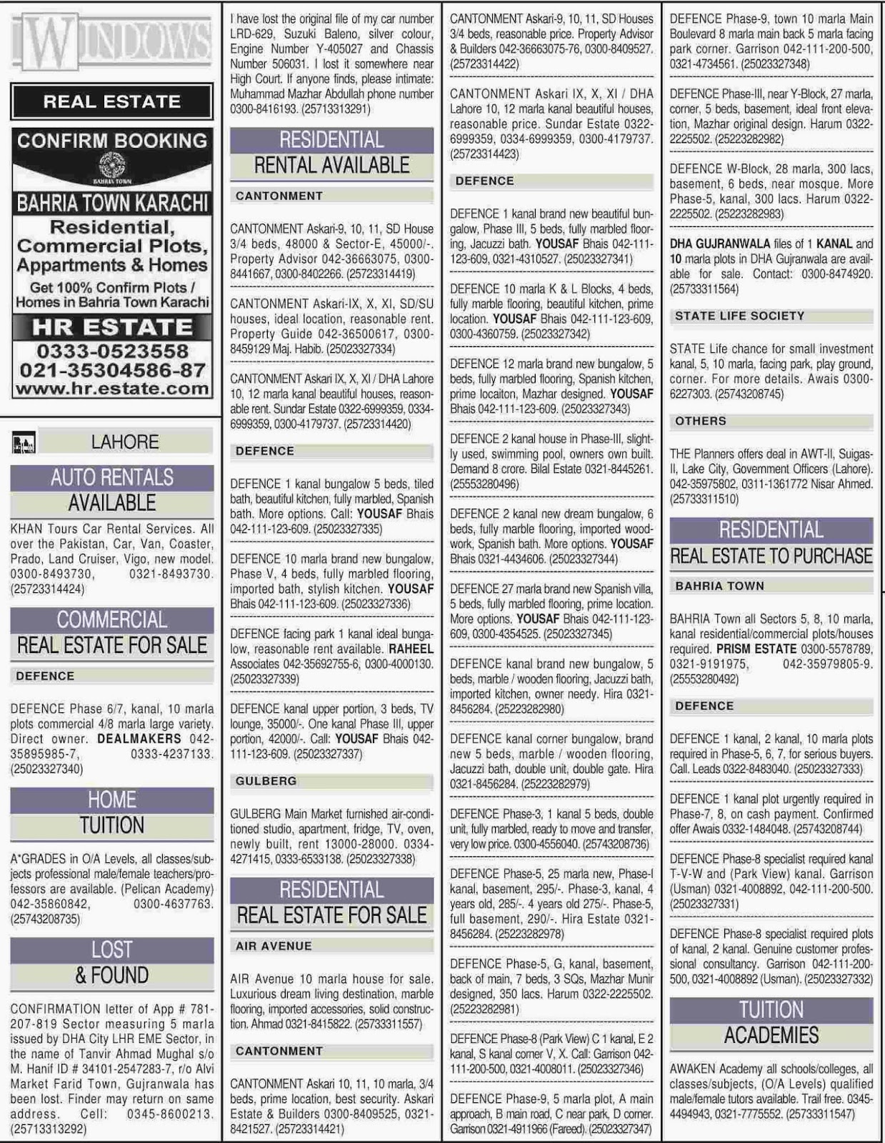 classified ads ads