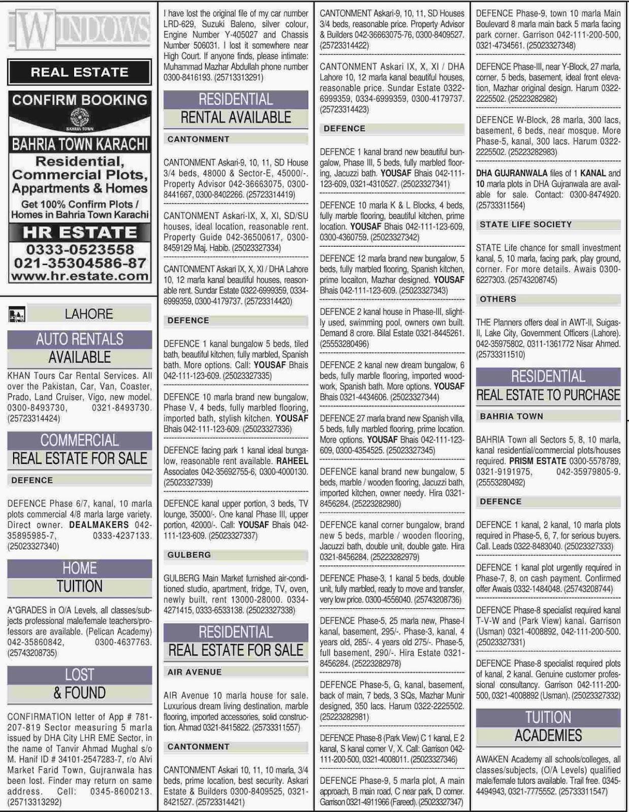 Dawn Newspaper Classified Ads Online Paperspk