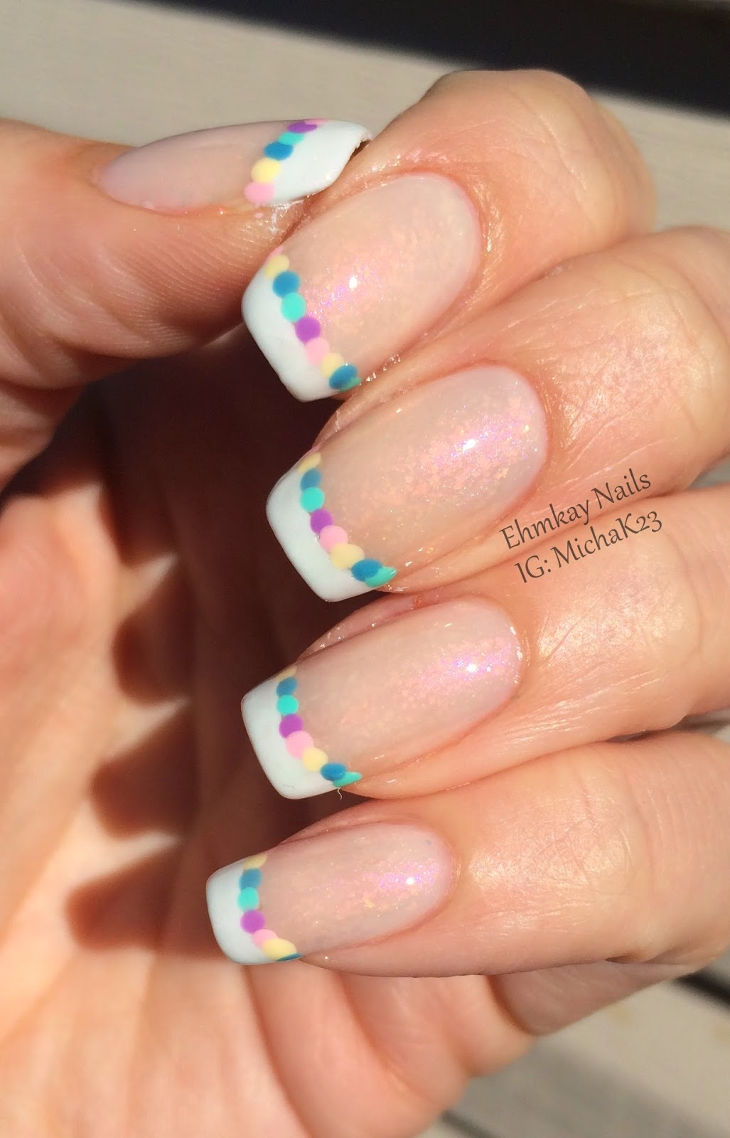Ehmkay nails easter egg french manicure easter egg french manicure prinsesfo Image collections