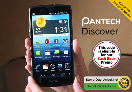 Factory Unlock Code for Pantech Discover